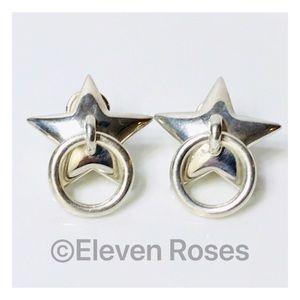 Vintage Tiffany & Co. Star Door Knocker Earrings